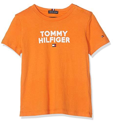 Tommy Hilfiger Baby-Jungen Logo Tee S/S T-Shirt, (Russet Orange 800), (Herstellergröße:86)