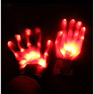 UChic 1Pairs/2PCS LED Light Gloves Flashing Finger Mittens Holiday Festival Fun Home Party Glowing For Performance Props Party Decoration Supplies