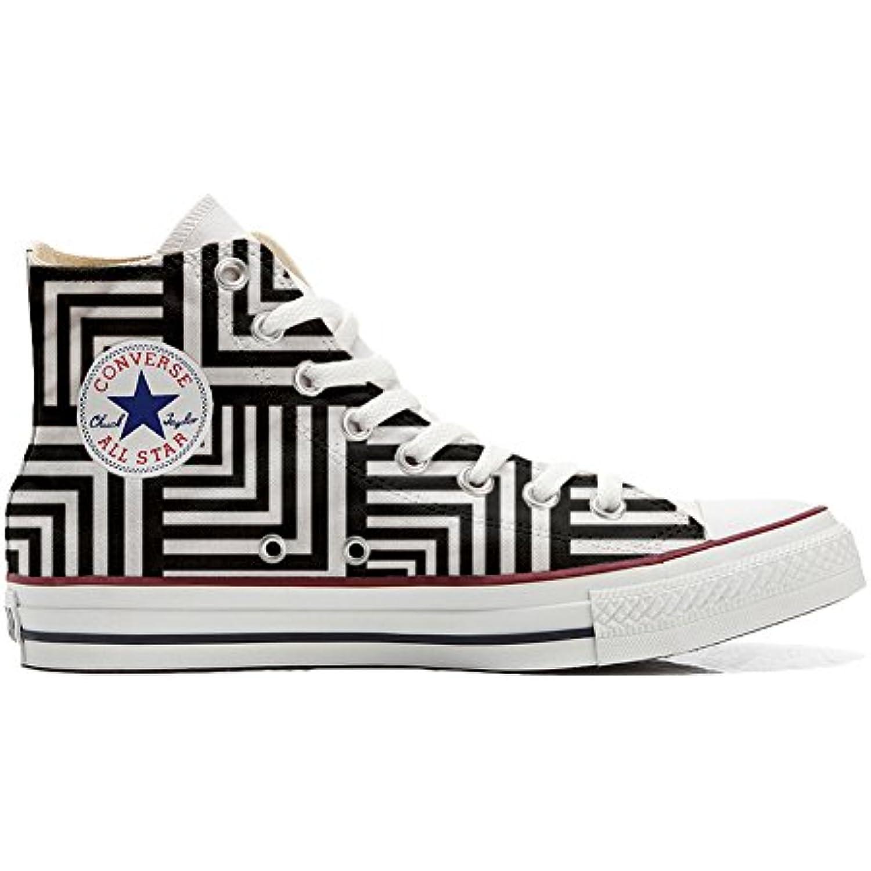 Converse All Star Hi Chaussures Personnalisé et et et imprimés Unisex (Produit Handmade) Geometric - B06X6K3T8Z - c63ea2