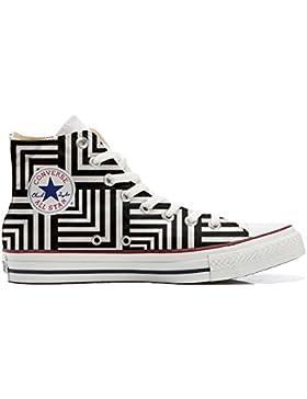 Converse All Star zapatos personalizadas Unisex (Producto Artesano) Geometric