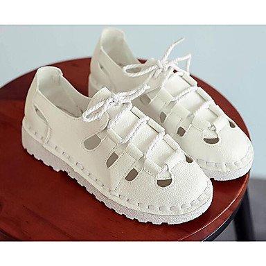 Sandales De Confort Pour Femmes Rtry Pu Informal Printemps Confort Blanc Beige 2a-2 3 / 4in Us7.5 / Eu38 / Uk5.5 / Cn38