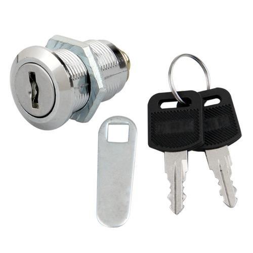 SODIAL (R) Cam Lock fuer Tuer-Kabinett/ Mailbox/ Schubladenschrank 25mm + Schluessel