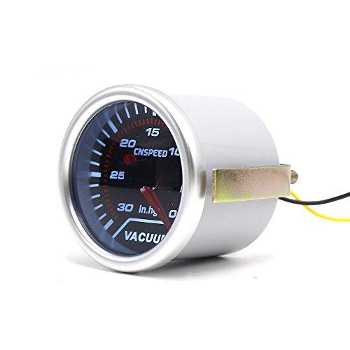 cnspeed LED Beleuchtung Smoke Objektiv 5,1cm 52mm Vakuum Gauge-30~ 0in. Hg Anzeige