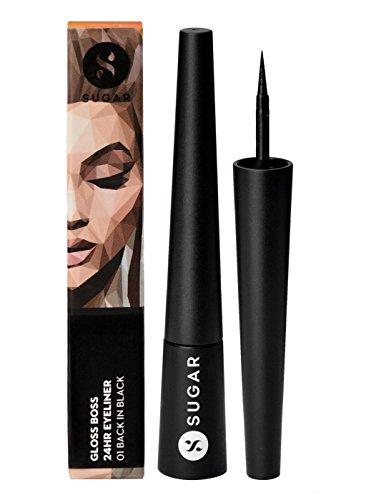 SUGAR Cosmetics, Gloss Boss 24hr Eyeliner 01 Back, 2.5 ml in Capacity, (8.9060904943e+012, Black)