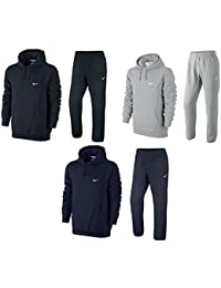 Nike Homme Survêtements Mens Fleece Jog Suit Hooded Swoosh Tracksuit Hoodie JogPant Set Black/Grey/Navy S M L XL 61147/611459 New