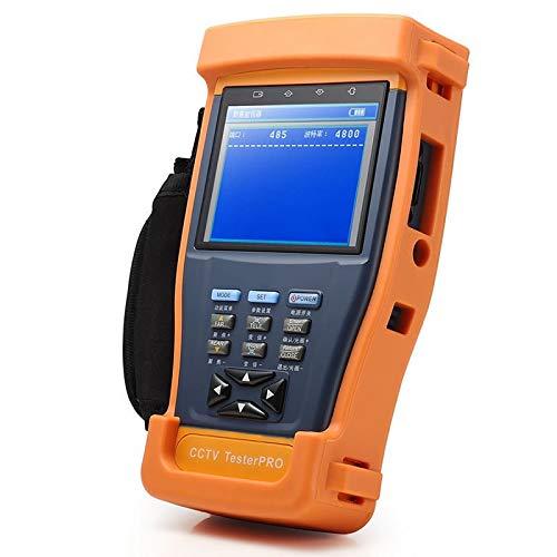 TOOGOO 4 In 1 CCTV Tester Video Monitor Tester Für Ahd Tvi Cvi Cvbs Kameras, 3,5 Zoll LCD Monitor, Wiederaufladbarer Akku Für Audio Und Video Test (Eu Stecker) -