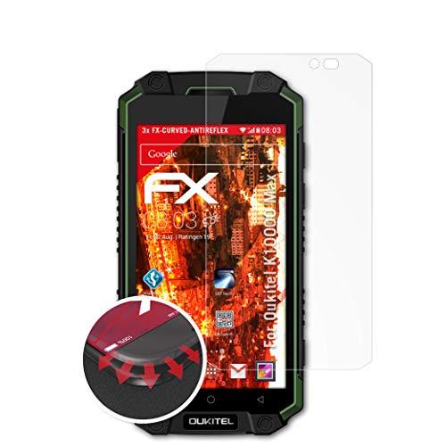 atFolix Schutzfolie passend für Oukitel K10000 Max Folie, entspiegelnde & Flexible FX Bildschirmschutzfolie (3X)