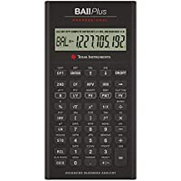 Texas Instruments TI BA II Plus Professional - Calculadora (batería, CR2032, Litio) , Gris [Importado]