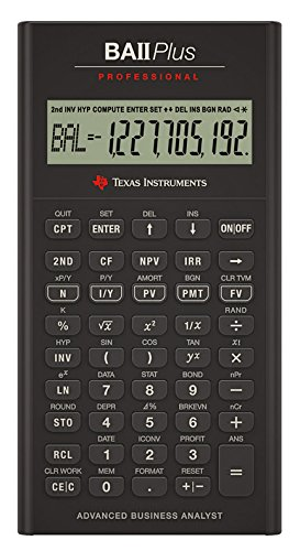 Professional Calculator Business (Texas Instruments BAII Plus Professional Taschenrechner)