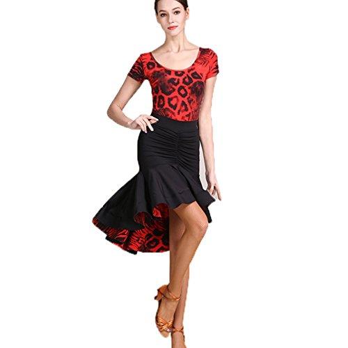 Wettbewerb Moderne Tanzkleider Für Frauen Stehkragen Zurück Hohl Performance Kostüme Tango Standardtanz Tanzen Outfit, white, L (Professionelle Jazz Kostüme)