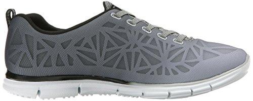 Skechers Sport Zelante moda della scarpa da tennis Black/White