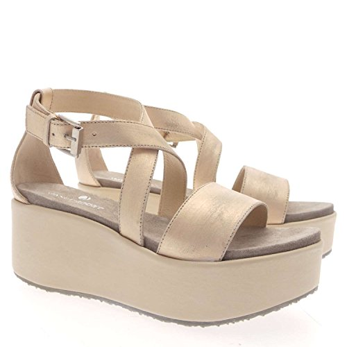 Janet Sport 33750 Sandalo Donna 100% Pelle Platino Platino 40