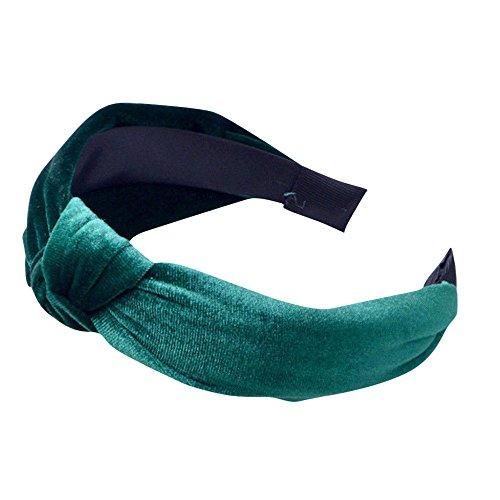 Haarbands,Sasstaids Damen Stirnband Cross Hair Band Breite Seite samt Volltonfarbe exotisch Haarband