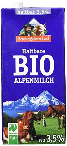 Berchtesgadener Land Bio Haltbare Bio-Alpenmilch, 3.5{e8f2e34a371180a967d69f9ce10ad62b15c91f589d6c586e75b7b58dc4c1408f} Fett, 12er Pack (12 x 1 l)