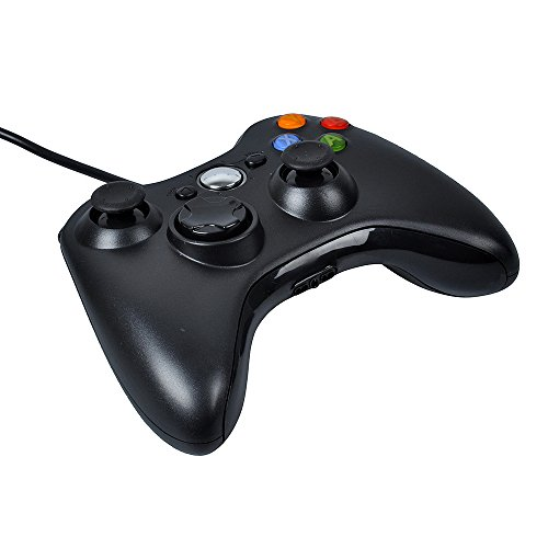 Stoga cable USB Game Pad Controller para MICROSOFT Xbox 360 PC Windows7 XP-negro