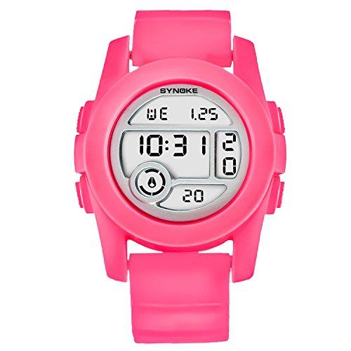 Digitale Armbanduhr Damen Sport Uhren für Jugendliche Rot (Tops Großhandel Womens Fashion)