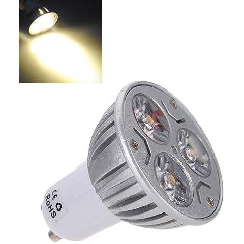 Bombilla GU10 3W 240LM energía blanca caliente ahorro de luz LED AC 85-265V.