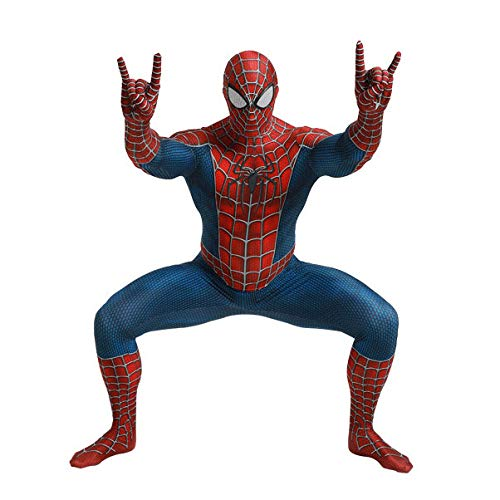 HEROMEN Tony Spider Kostüm Cosplay Mann Jungen Und Mädchen All-Inclusive Strumpfhose Jumpsuit Cos,Adult-S (Alle Ultimate Spider Mann Kostüm)