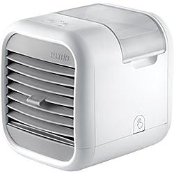 HoMedics - Refroidisseur d'espace personnel MyChill Plus, espace froid 8 degrés, zone de froid de 2 m, 3 vitesses de ventilation, Grille ajustable, réservoir d'eau propre, parfait partout- Blanc