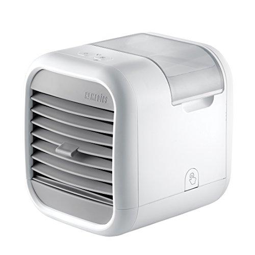 HoMedics MyChill Luftkühler Abkühlung bis zu 7°, 1.8m Kühlbereich, 2 Geschwindigkeitsstufen, Einstellbare Winkel, Sauberer Wassertank Technokogie, Ideal fürs Büro oder Zuhause