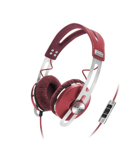 Sennheiser Momentum 1.0 - Auriculares de diadema cerrados (con micrófono, control remoto integrado, 3.5 mm), color rojo