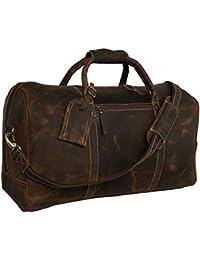 982dd4ed574f14 Weekender Reisetasche DHK Bags New York XL Geräumige Sporttasche  Wochenendtrip Handgepäck Freizeittasche Gymbag aus echtem Leder…