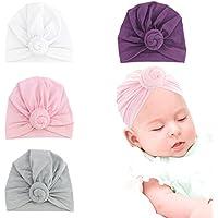 0e228703e244 Smileq Chapeau Bébé Enfant Bébé Filles Boho Chapeau Bonnet Turban Head Wrap  Cap Red