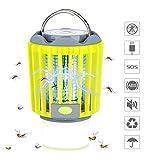 veerkey Lampe Torche 3 en 1 Anti-moustiques LED pour Camping, Portable et Anti-Insectes IPX6, avec Batterie Rechargeable et Crochet rétractable (Vert)