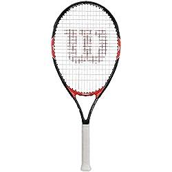 Wilson Raquette de Tennis pour Enfants, Roger Federer 23, Noir/Rouge, pour les Enfants de 1,15m à 1,30m de Hauteur, WRT200700