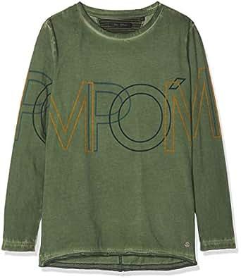 Marc O' Polo Kids Jungen T-Shirt 1/1 Arm, Grün (Climbing Evergreen 5276) 116