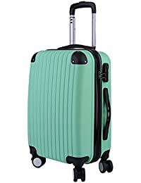 d5fbae2cef9a OUTAD 20 inches Cabin Suitcase Waterproof Carry On Hand Luggage ABS Hard  Shell Lightweight Travel Cabin Luggage with 4 Universal…