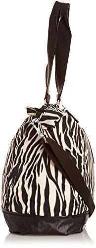 Kipling SHOPPER COMBO Dune Beige Tf K12272C29 Damen Schultertaschen 40x37x11 cm (B x H x T) Mehrfarbig (Zebra Block Tf B22)