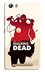 Omnam Boy Riding Bike With The Walking Dead Wriiten Designer Printed Back Cover Case For Gionee Marathon M5 Lite