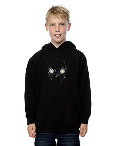 (Marvel Jungen Captain America Civil War Black Panther Eyes Kapuzenpullover 12-13 years Schwarz)