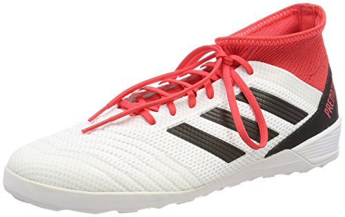 adidas Herren Predator Tango 18.3 IN Fußballschuhe, Schwarz (FTWR White/core Black/real Coral S18), 48 2/3 EU
