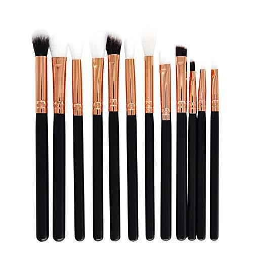 HDUFGJ 12 Stück Make-up Pinsel Set professionelle Gesicht Lidschatten Eyeliner Foundation Blush