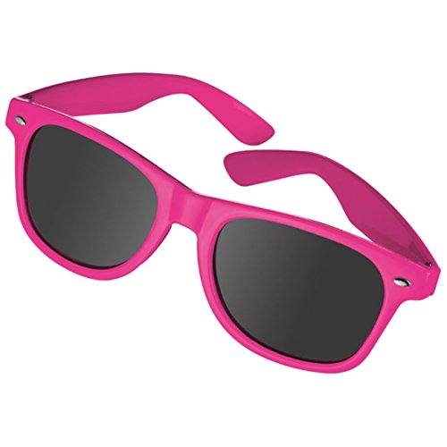 Sonnenbrille im 'Nerdlook' - UV 400 zertifiziert - Hochwertiger Kunststoffrahmen (pink)