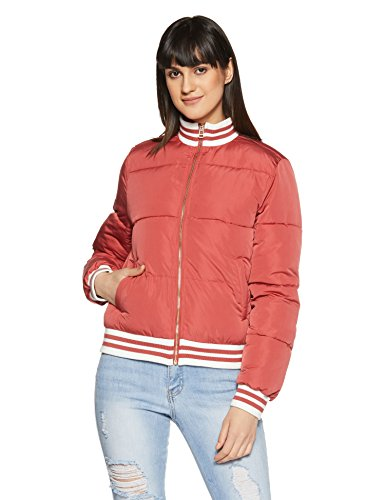 Forever 21 Women's Quilted Jacket (204139_Rose_S)