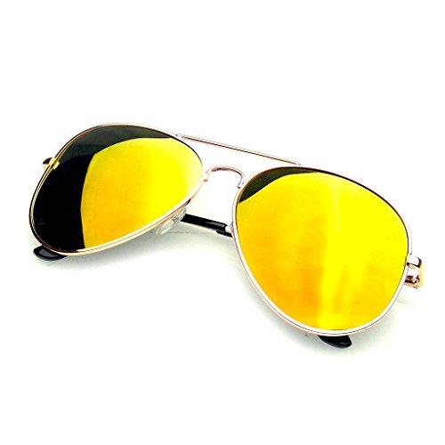 b3122dccb3e Classic Gold and Green Aviators Gold Mirror Lens Aviators
