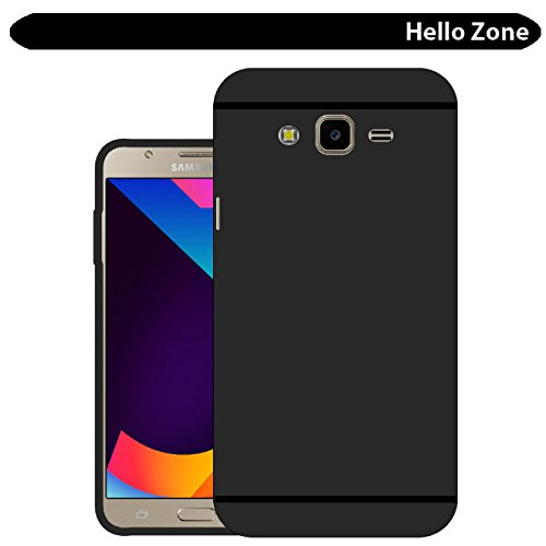 Hello Zone Exclusive Matte Finish Soft Back Case Cover for Samsung Galaxy J7 Nxt SM-J701 - Black