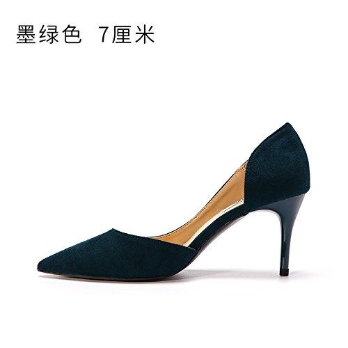 FLYRCX In autunno e in inverno, onorevoli colleghe con tacco suggerimenti, sexy scarpe con i tacchi alti e scarpe C