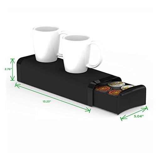 Mind Reader 'Slim' for 16 Nespresso Capsules, 12 K-Cups, 14 CBTL/Verismo Pods, Black Coffee Pod Storage Drawer
