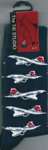 british-airways-livery-concorde-plane-on-navy-socks