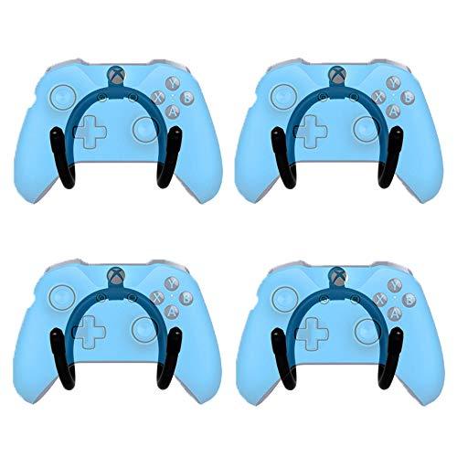 YYST Mini-Wandhalterung, flexibel, für Gamecontroller, 4 Stück, kein Controller im Lieferumfang enthalten, Schraubenabdeckung enthalten, kein Gamecontroller -