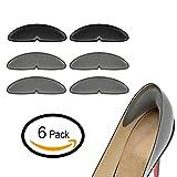 Fersenhalter Fersenpolster zu Große Schuhe - 6 Stück Geleinlagen High Heels - mit extra-Volumen, Reiben und Schürze aus, fest, mit Polsterung.