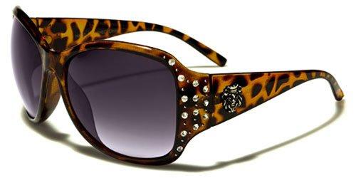 KLEO Sonnenbrille Modus-Fashion-Stadt-Verhaltenskodex-Moto-Strand-Retro/Mod. Sicilia braun gesprenkelt