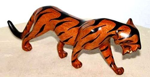 Africa art decoration–tigre in legno teak 3221-ax-5