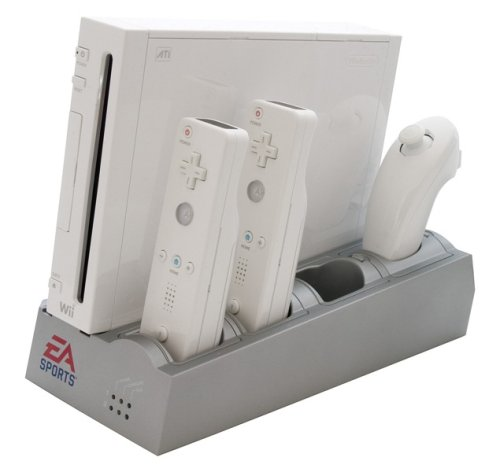 Nintendo Wii - Docking Station [silver] incl. 2 Battery Packs [white] - Ladestaton (EA Sports Edition) - Ladegerät Docking Wii Station