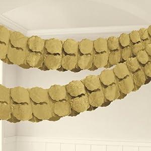 Amscan International-20055-19-553,65m oro guirnalda de papel