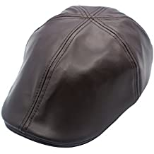 JEDAGX PU Mens Flat Caps Irish Hunting Newsboy Hat 56-58 CM 71caf4bbd1c